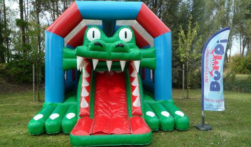 Springkasteel krokodil